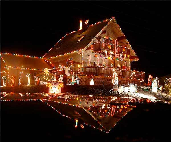holiday home decorations and holiday lights