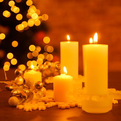 holiday candles in danger of causing fire