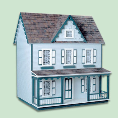 wooden vermont farmhouse dollhouse for kids