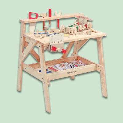 Children's Wooden Workbench | Easy DIY Woodworking Kits for Kids