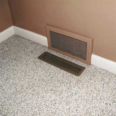 cold return installed directly below a heating vent