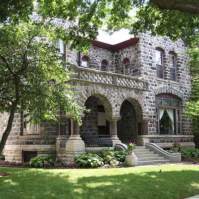 Richardson Romanesque house in fort wayne indiana, best old house neighborhood