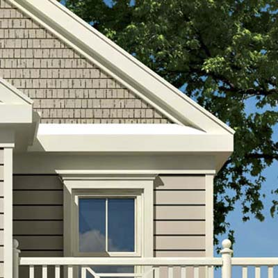 the Photoshop rendering of an architect's proposed changes to a house emphasizing the siding
