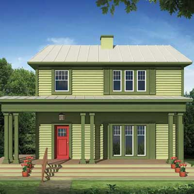 Simple strategies for a two story photoshop redo how to for Simple two story house