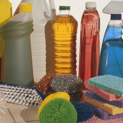 various home cleaning products