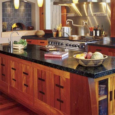 kitchen with stone countertop