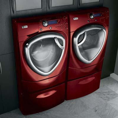 Steam washing machine and dryer by GE