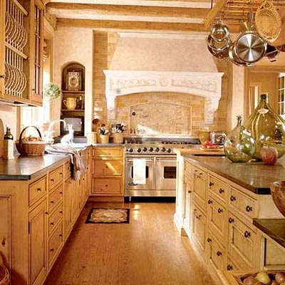 a kitchen made over in a Tuscan style