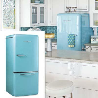 retro style refrigerator