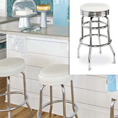 retro look swivel bar stool