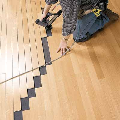 install an engineered wood floor