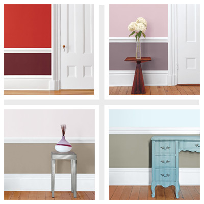 it takes two four paint schemes for two tone rooms