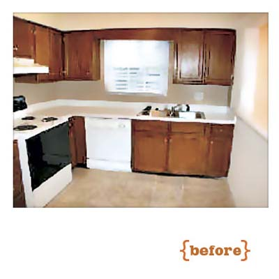 before photo of this kitchen remodel