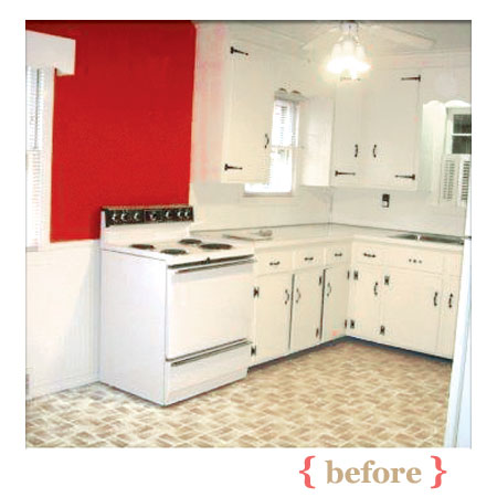 charming kitchen before being remodeled at a budget price