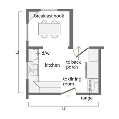 before kitchen floor plan