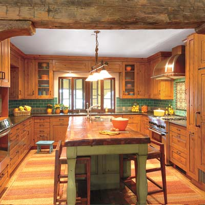 Old meets new a modern kitchen with an old world look for Old world style kitchen
