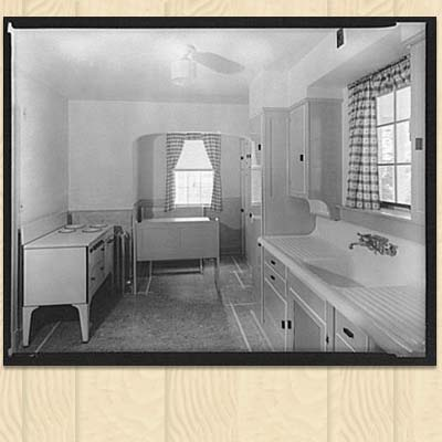 old photo a nineteen thirties kitchen design