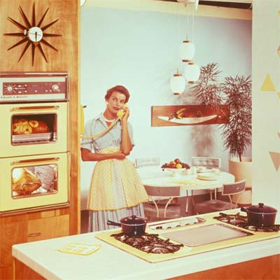 nineteen sixties style kitchen