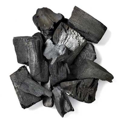 pile of charcoal