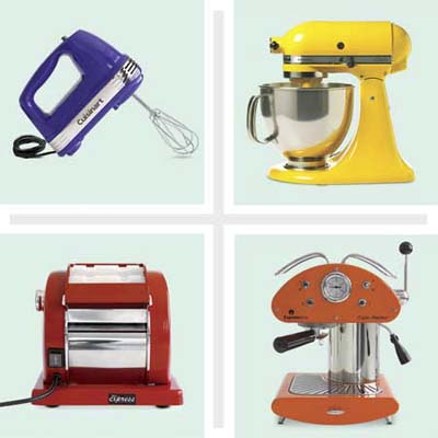 composite of four vintage style appliances