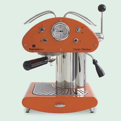 vintage-look espresso maker