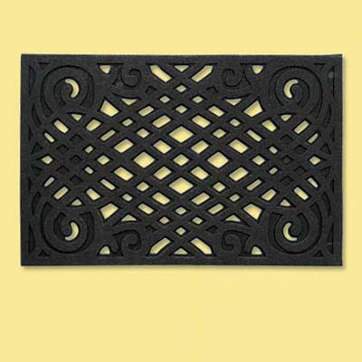 recycled rubber doormat; welcome mat