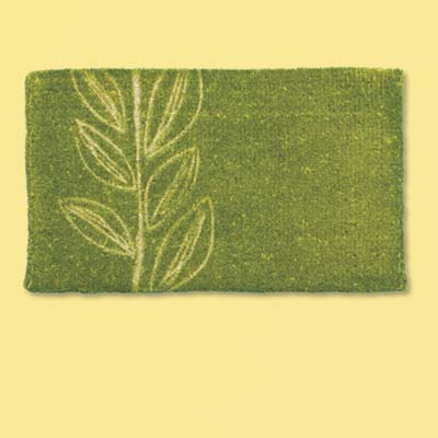 natural fiber plant design doormat; welcome mat