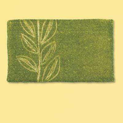 natural fiber plant design doormat; welcome mat