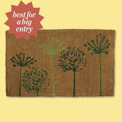 oversize natural fiber handwoven doormat