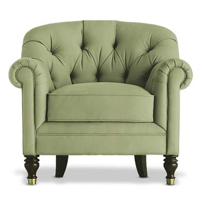 classic club chair from the bernhardt furniture company in this eclectic living room decor