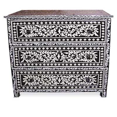 hand painted chest from living morocco