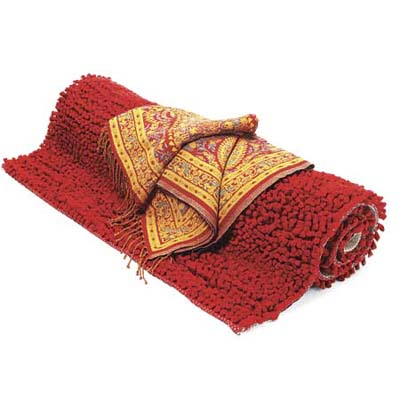 colorful rug and throw from rugs direct and cost plus world market respectively