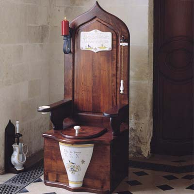 throne-like toilet