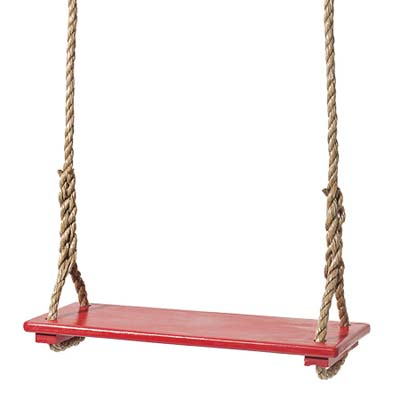 affordable easy upgrades: red tree swing 