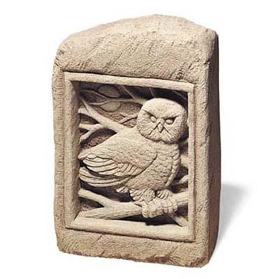 owl garden stone