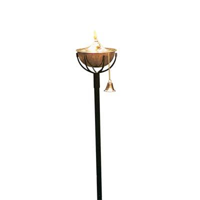 hammered-copper round torch
