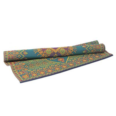 colorful all-weather oriental rug