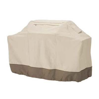 beige grill cover