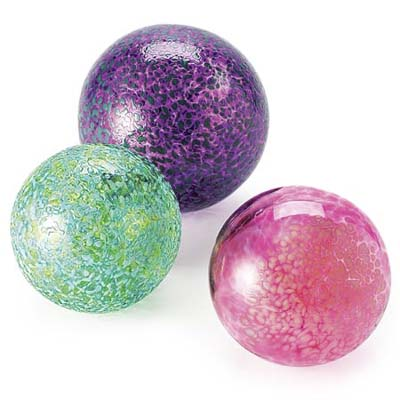 colorful glass floats