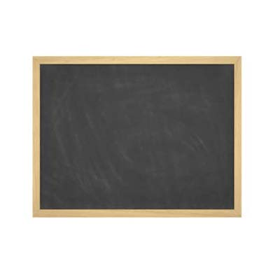 blank chalkboard for the garden