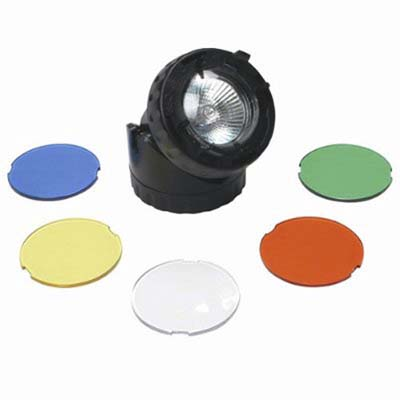 sunterra submersible pond light with colored filters