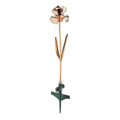 decorative copper iris sprinkler