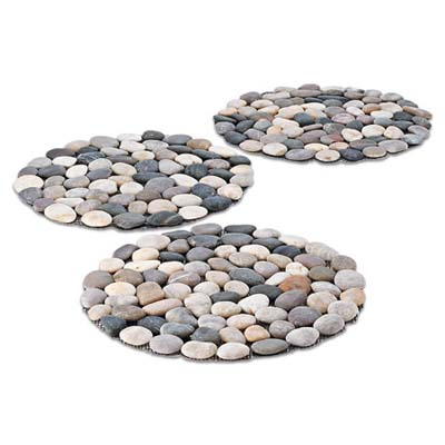mesh-backed stepping stones