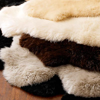 sheepskin rugs by horchow