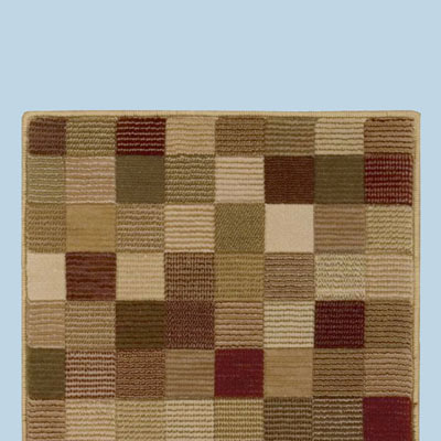 color block rug
