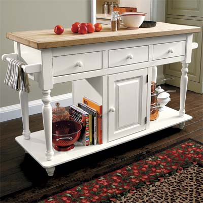 free standing kitchen island 