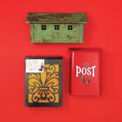 3 wall-mount mailboxes