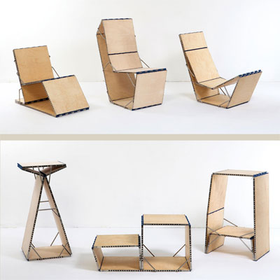 flexible loop style folding chair
