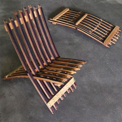 wine barrel style folding chair