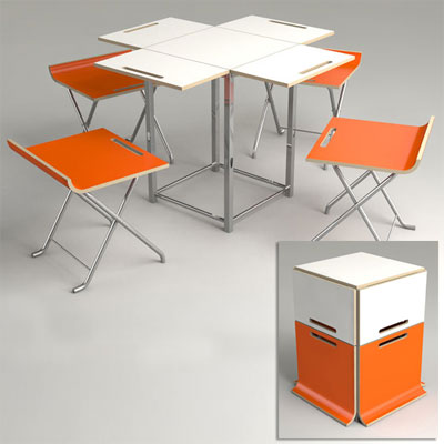 offit paket style folding chair and table